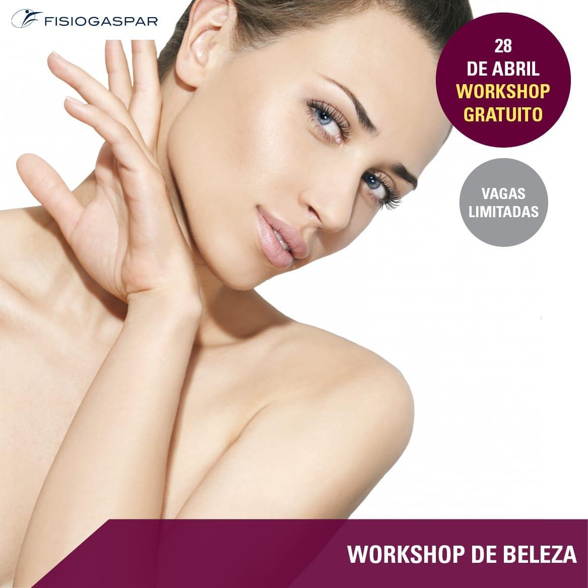 fisiogaspar workshop beleza gratis 28 abril
