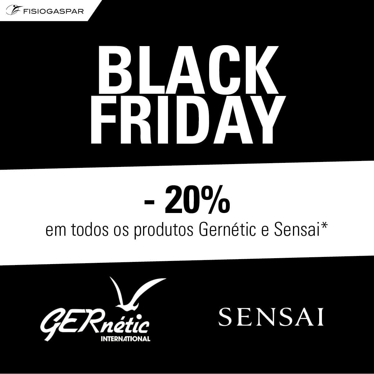 black fridai menos 20% de desconto em produtos gernétic e sensai