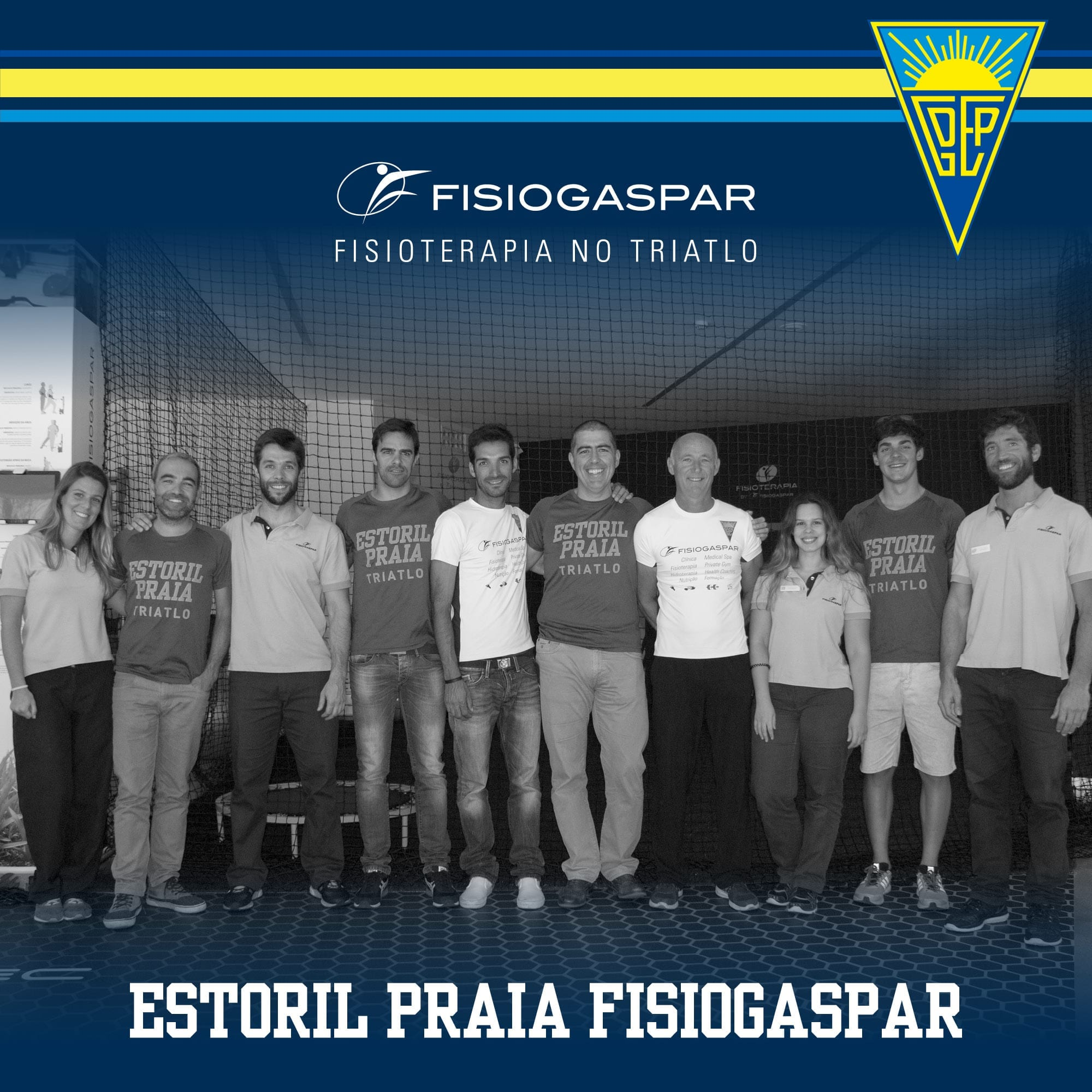 Estoril Praia e Fisiogaspar juntos no triatlo