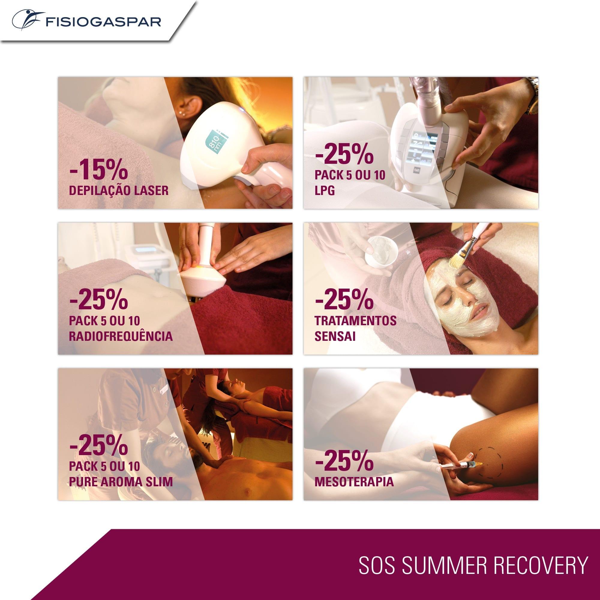 SOS summer recovery tratamentos