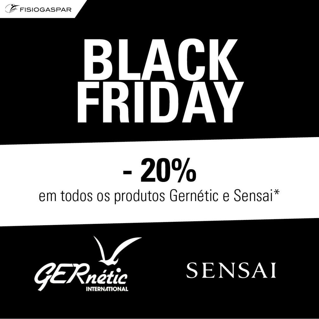 black friday 20% desconto Gernetic e sensai