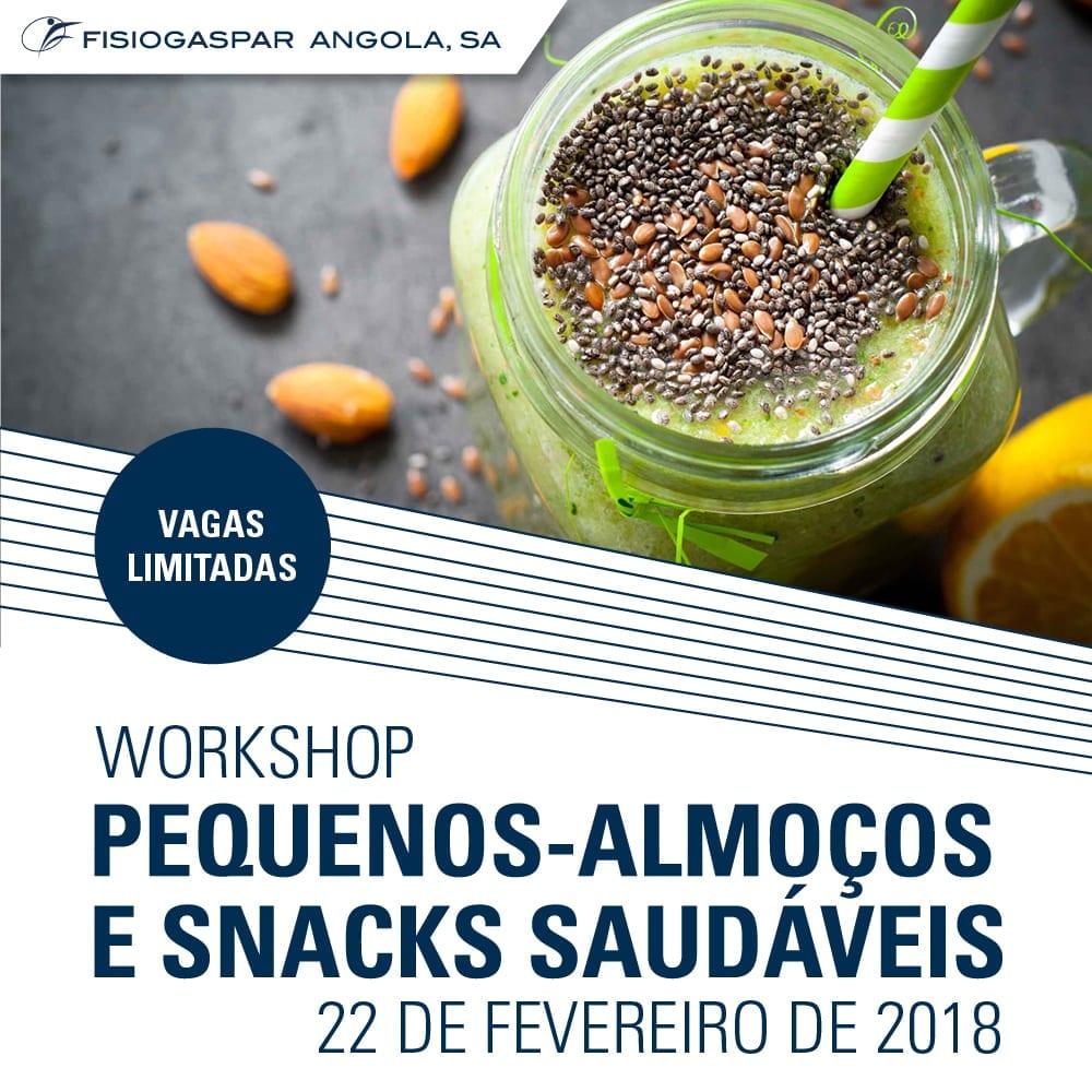 Workshop Pequeno- Almoço snacks saudáveis 22 Fevereiro