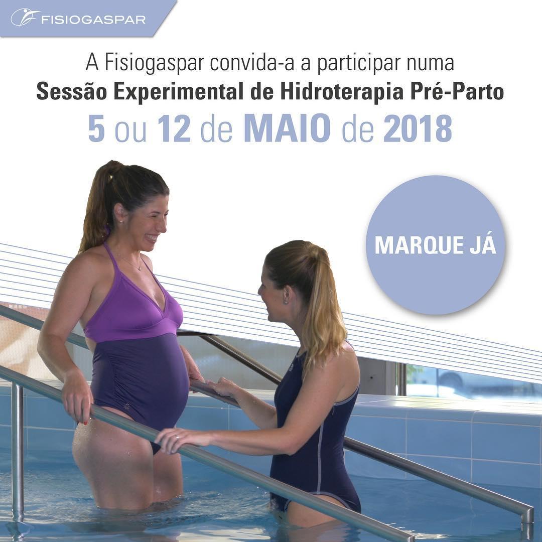 Hidroterapia Pré-parto 5 ou 12 Maio 2018