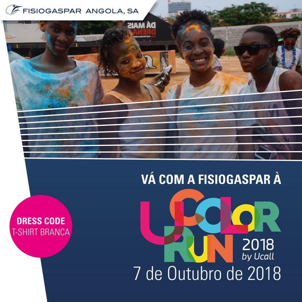 Color Run fisiogaspar Angola 7 Outubro 2018