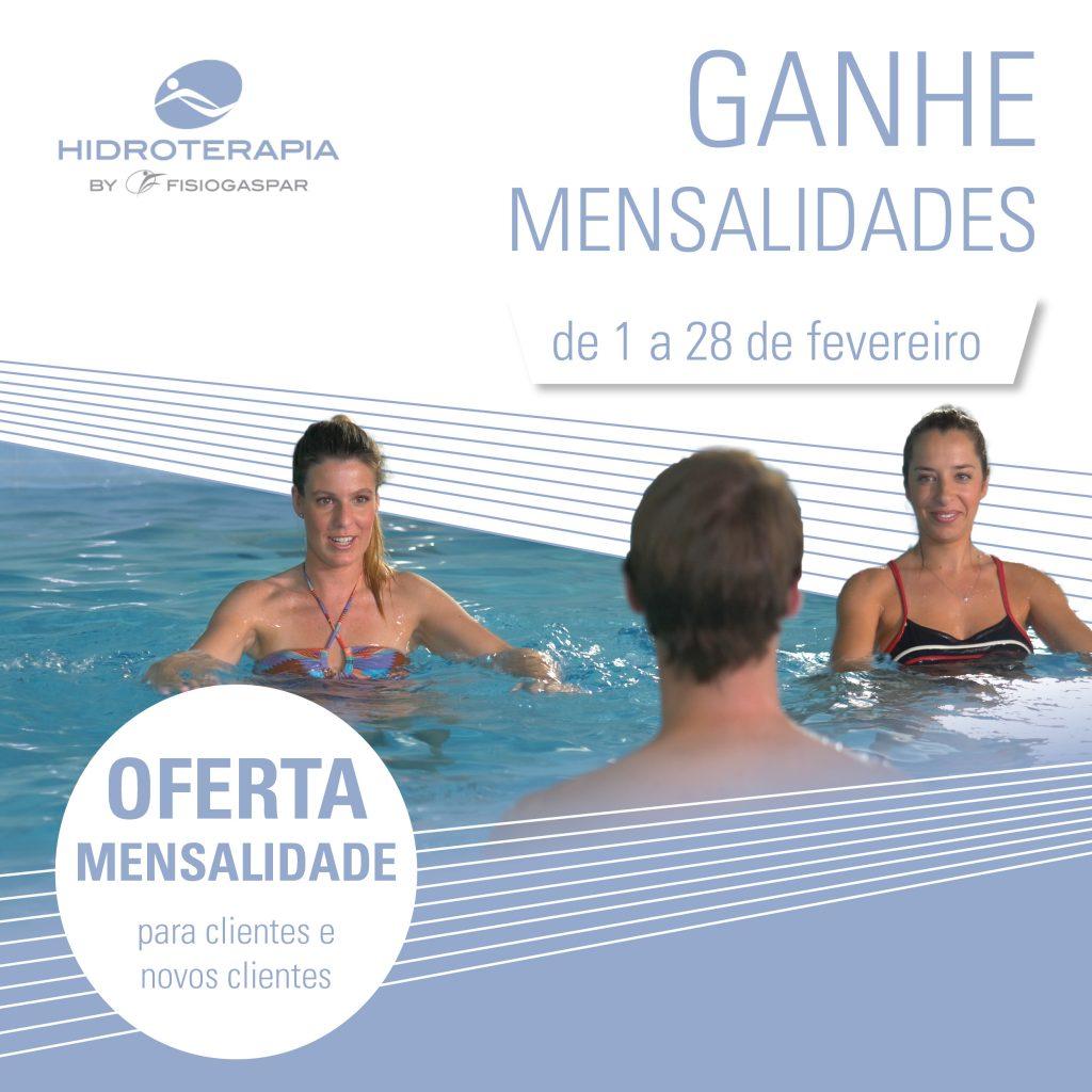 ganhe mensalidades hidroterapia Fevereiro