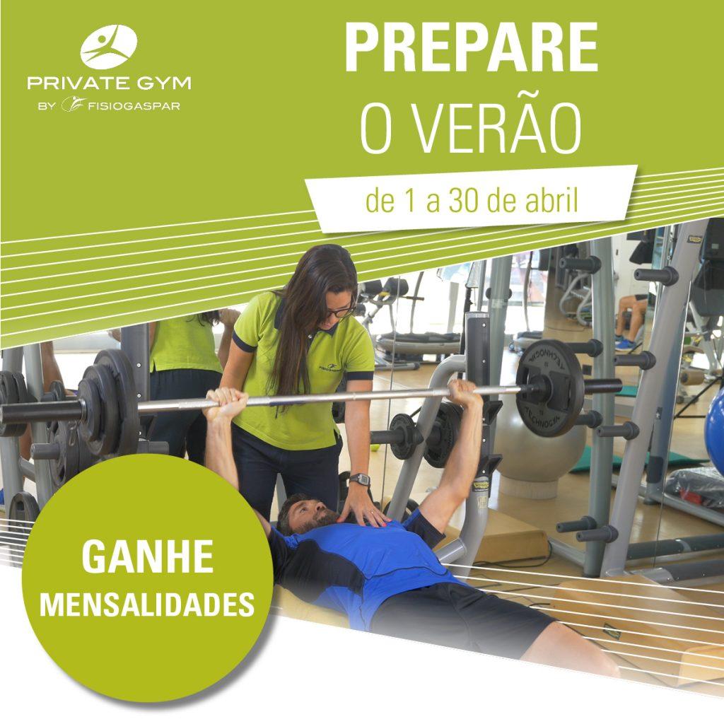 Prepara verão 1 a 30 de Abril ginásio ganhe mensalidades
