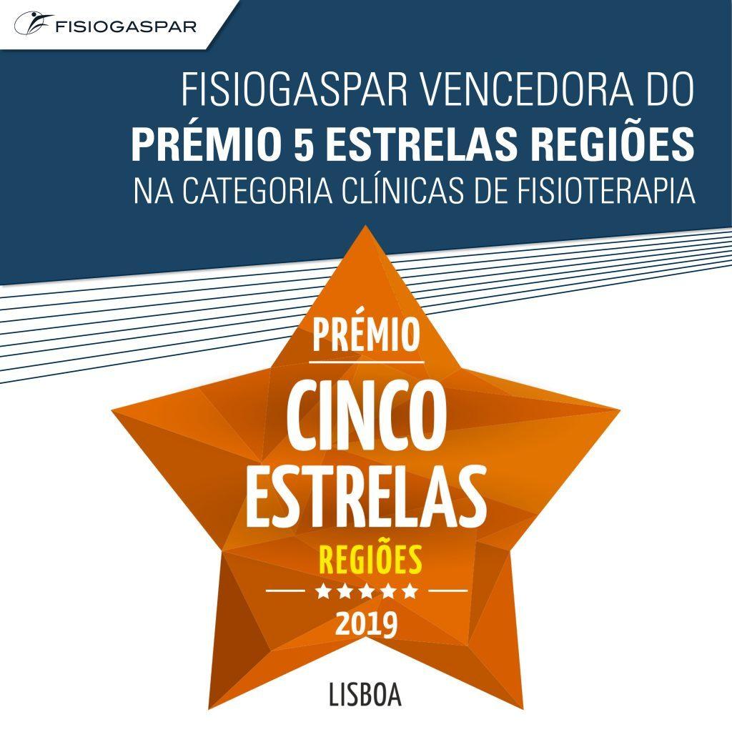 clínica fisioterapia prémio regiões cinco estrelas Lisboa